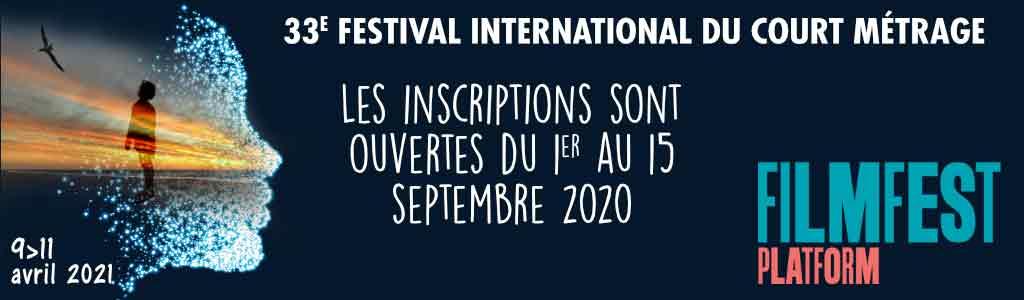 Bandeau 33e festival, inscriptions du 1er au 15 septembre 2020
